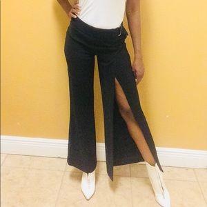 Sexy Bebe Black Pants with Slits Size 4